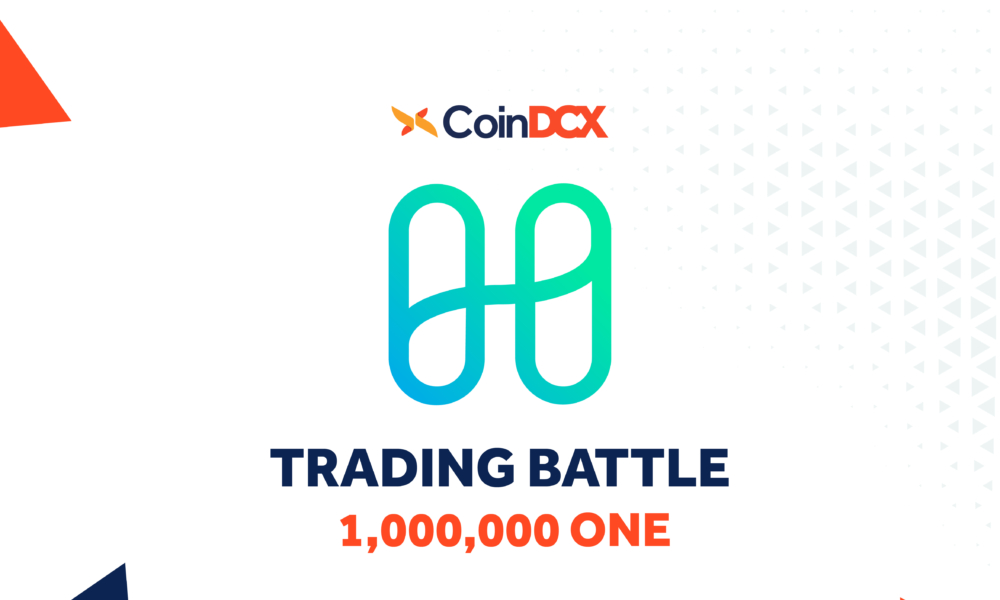 Logo of harmony with trading battle announcement